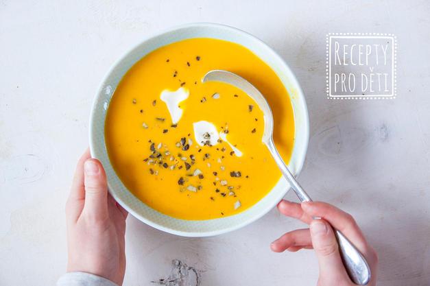Krémová dýňová polévka pro zahřátí