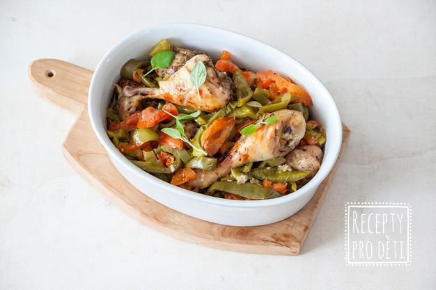 Nejoblíbenější kuřecí paličky se zeleninou