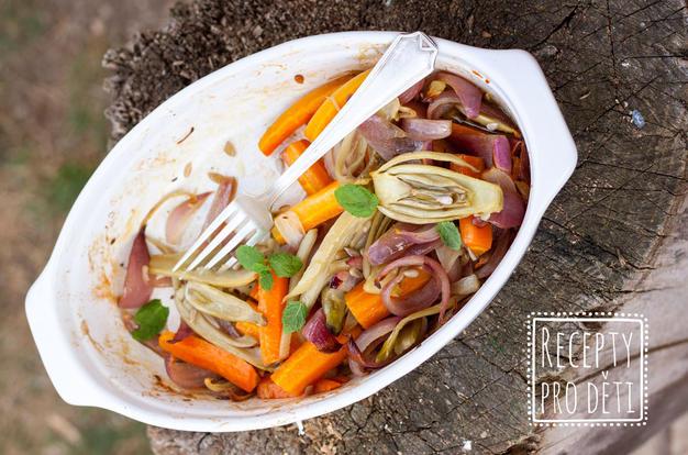 Zapečená zelenina jako lehké letní jídlo