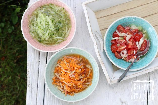 Nejoblíbenější letní saláty: okurkový, mrkvový, rajčatový. Který je ten váš?