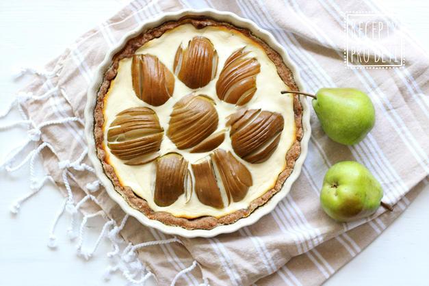 Podzimní koláč s tvarohem a hruškami
