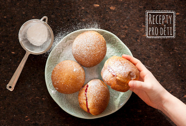 Koblihy pečené v muffinové formě